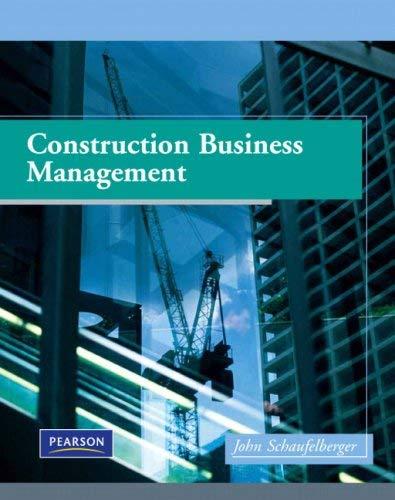 Construction Management Firm : Construction business management by john e schaufelberger
