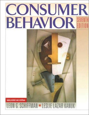 Consumer Behavior 9780130841292