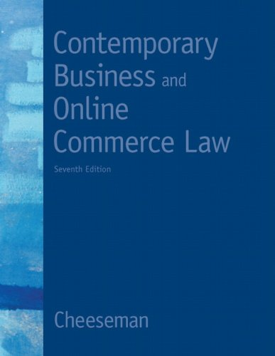 Contemporary Business and Online Commerce Law - 7th Edition