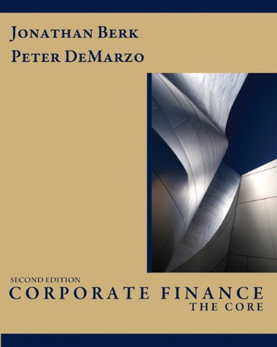 BERK JONATHAN CORPORATE FINANCE