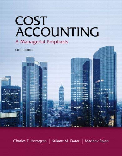 Cost Accounting with Access Code: A Managerial Emphasis 9780132960649