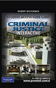 Criminal Justice Interactive Student Access Code Card 9780135068465