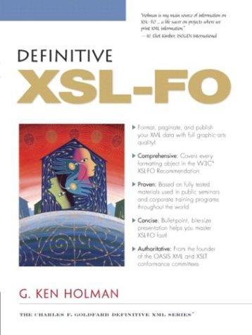 Definitive XSL-FO 9780131403741
