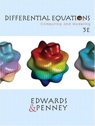 Differential Equations: Computing and Modeling 9780130673374