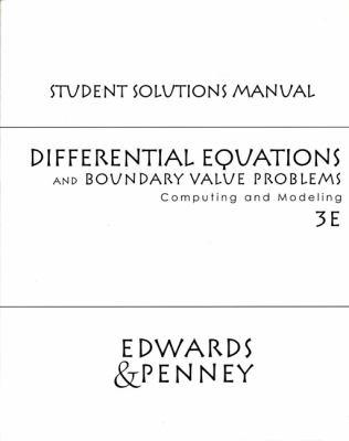 Diffrntl Equatns& Boundary Valu Probs: Cmptg 9780130475794