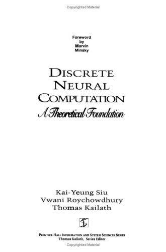 Discrete Neural Computation 9780133007084