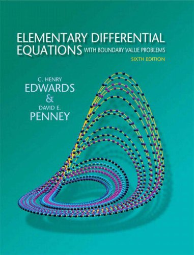 Elementary Differential Equations with Boundary Value Problems 9780136006138