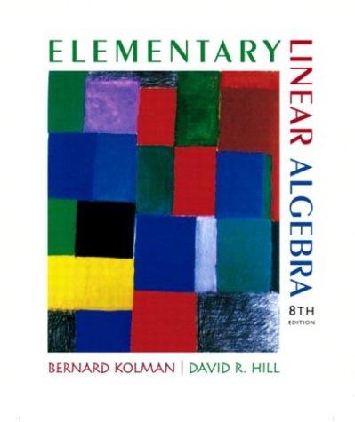 Elementary Linear Algebra 9780130457875