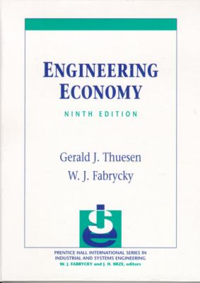 Engineering Economy 9780130281289