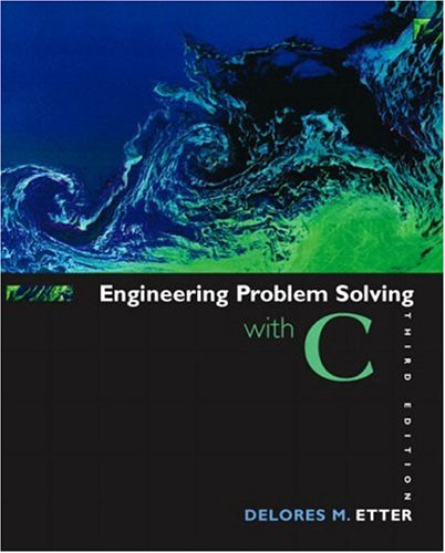 Engineering Problem Solving with C 9780131429710
