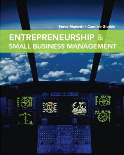 Entrepreneurship & Small Business Management 9780135030318