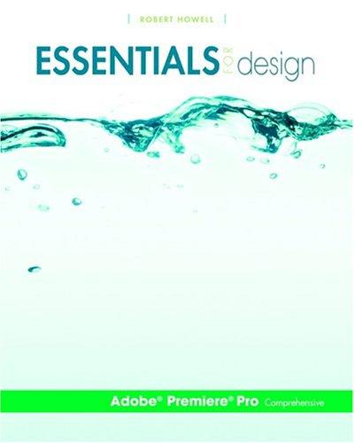 Essentials for Design Adobe(r) Premiere(r) Pro-Comprehensive 9780131466500