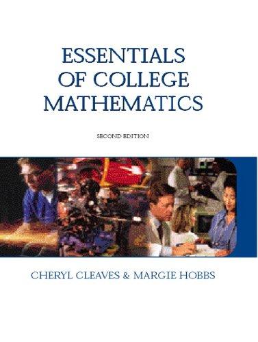 Essentials of College Mathematics 9780131714809