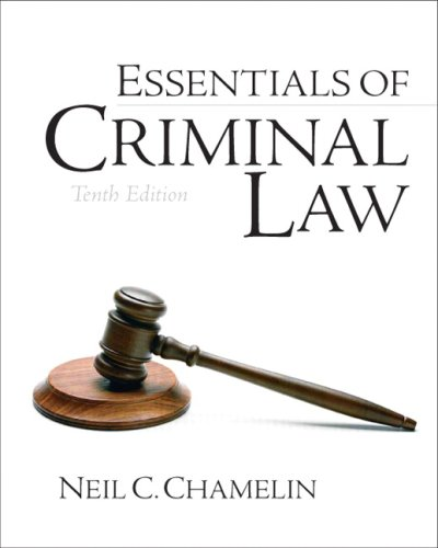 Essentials of Criminal Law - 10th Edition