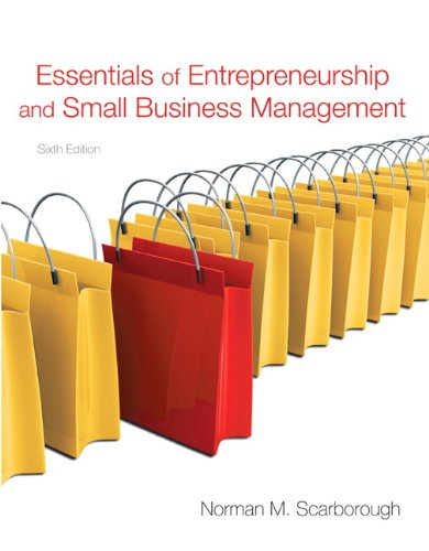 Essentials of Entrepreneurship and Small Business Management 9780136109594