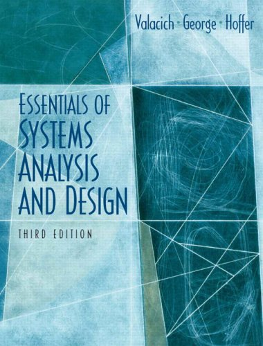 Essentials of System Analysis and Design 9780131854628