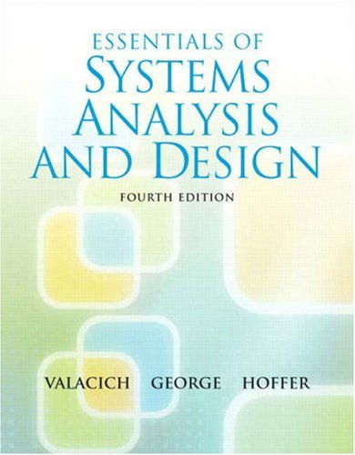 Essentials of System Analysis and Design 9780136084969
