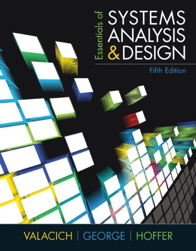 Essentials of Systems Analysis and Design 9780137067114