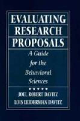 Evaluating Research Proposals: A Guide for the Behavioral Sciences 9780133485660