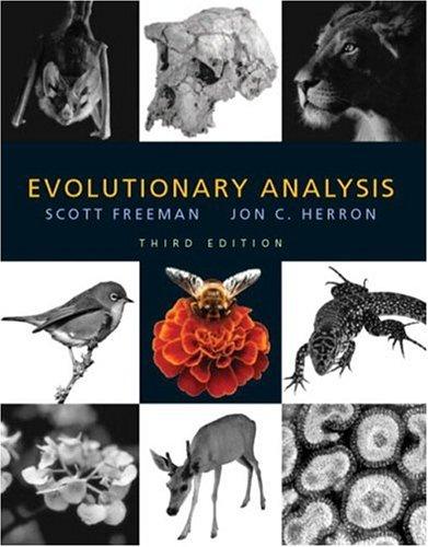 Evolutionary Analysis by Scott Freeman and Jon C. Herron (2013, Hardcover,...
