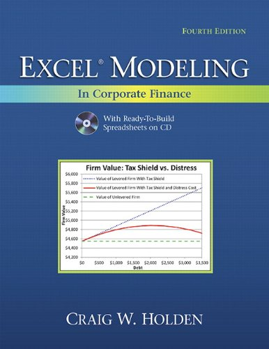 Excel Modeling in Corporate Finance [With CDROM] 9780132497848