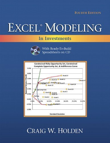 Excel Modeling in Investments [With CDROM] 9780132497879
