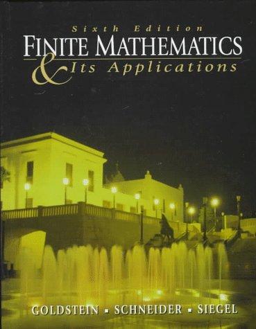 Finite Mathematics and Its Applications 9780137418770