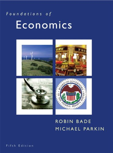 Foundations of Economics 9780131367838