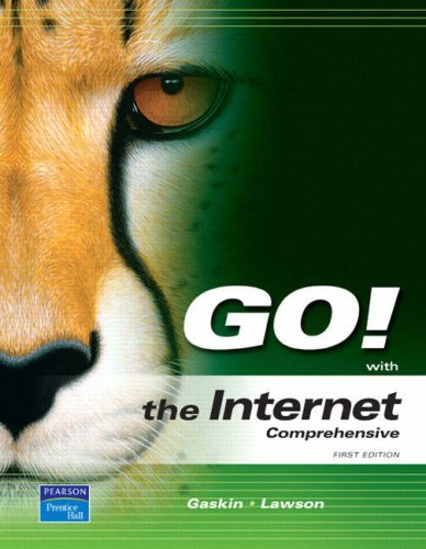 Go! with the Internet: Comprehensive 9780131956957