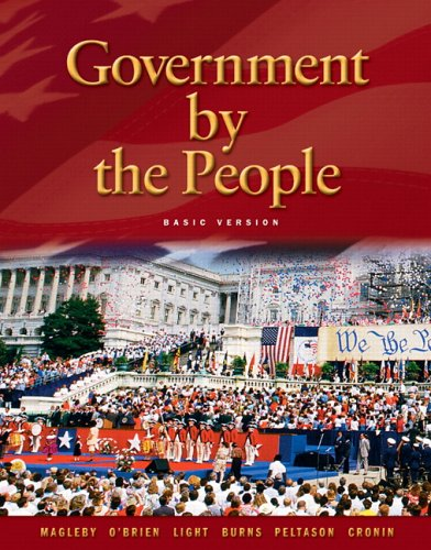 Government by the People: Basic Version 9780131921580