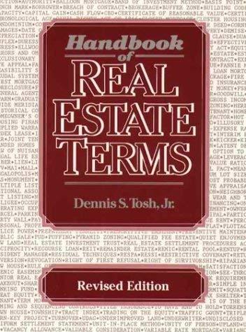 Handbook of Real Estate Terms 9780133760705