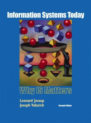 Information Systems Today: Why Is Matters & Student CDROM Pk 9780132190442
