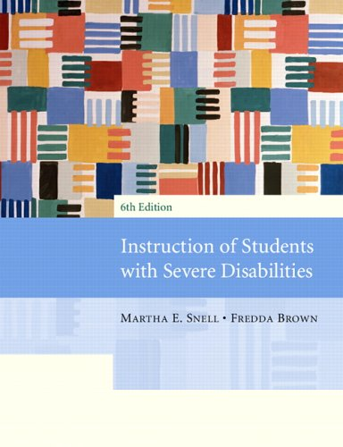 Instruction of Students with Severe Disabilities 9780131143357