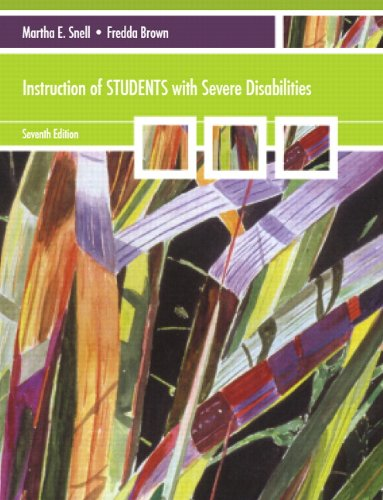 Instruction of Students with Severe Disabilities 9780137075461