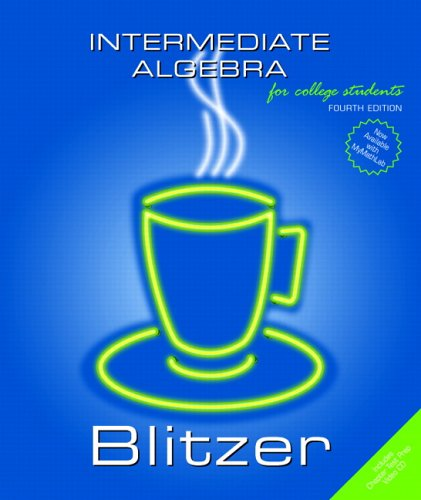 Intermediate Algebra 9780131492578