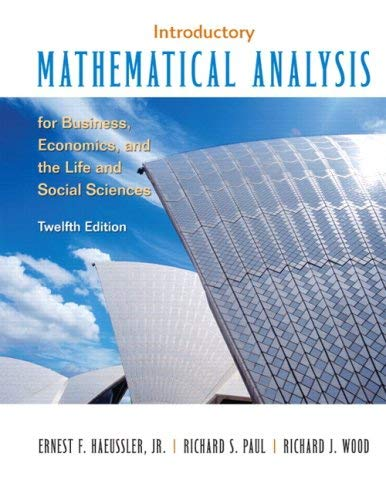 Introductory Mathematical Analysis for Business, Economics and the Life and Social Sciences Value Package (Includes Student's Solutions Manual) 9780136008996