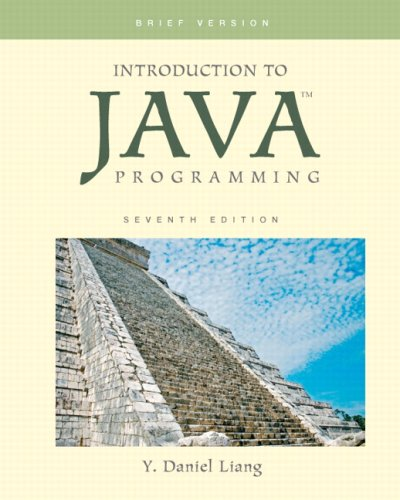 Introduction to Java Programming: Brief Version 9780136042587
