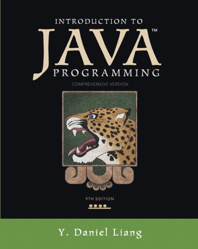 Introduction to Java Programming, Comprehensive Version 9780132936521