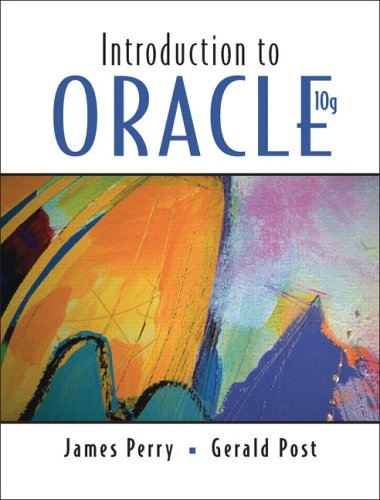 Introduction to Oracle 10g 9780131957404