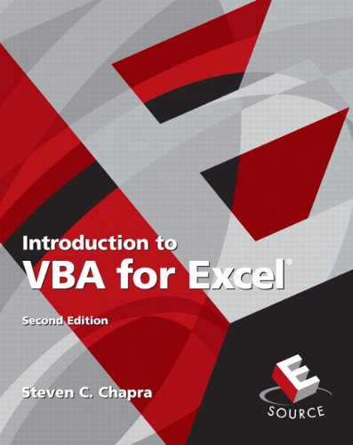 Introduction to VBA for Excel 9780132396677