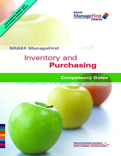 Inventory and Purchasing: Competency Guide [With Study Guide] 9780135072431