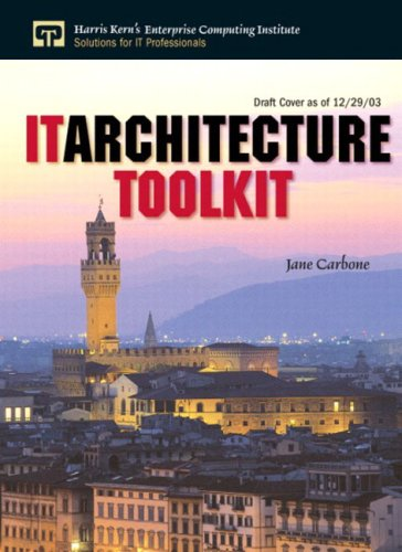 It Architecture Toolkit 9780131473799