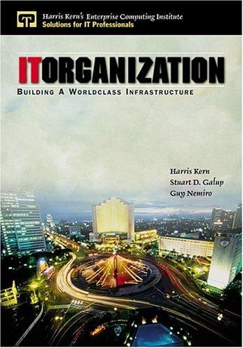 It Organization: Building a Worldclass Infrastructure 9780130222985