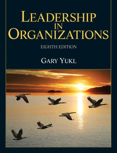 Leadership in Organizations 9780132771863