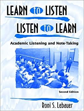 Learn to Listen, Listen to Learn 9780139194320