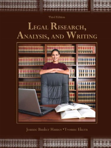 Legal Research, Analysis, and Writing 9780131594807