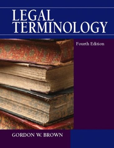 Legal Terminology 9780130155986