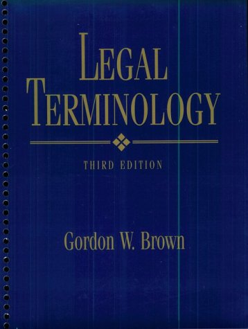 Legal Terminology 9780132603737