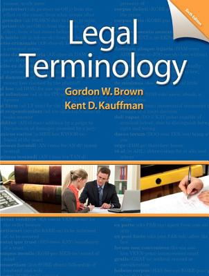 Legal Terminology 9780132738767