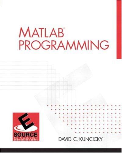 MATLAB Programming 9780130351272
